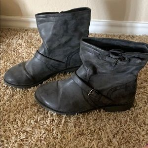 Nine West Black Ankle Boots- Size 9